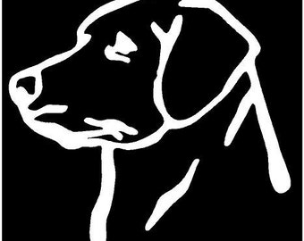 Vinyl Decal Lab head labrador puppy dog hunt truck country bumper sticker car truck laptop
