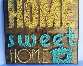 home sweet home sign, home sweet home, string art heart, string art home, string art, home sign, home decor wall art, home decor, home