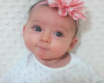 Water lily headband, baby headband