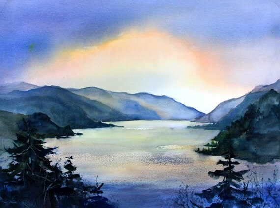 Columbia Gorge 351 -- signed print - watercolor - Bonnie White - Columbia Gorge watercolor