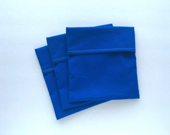 Reusable Sandwich Bag Set, Reusable Snack Bag Set, Set of 3