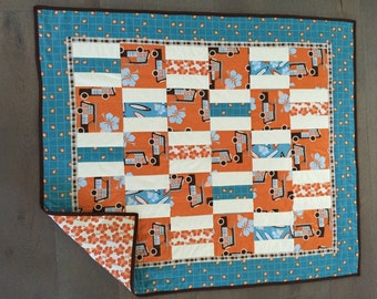 Surfer dude baby quilt