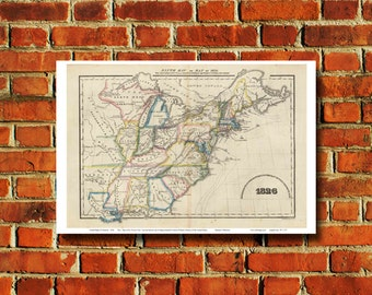 United States Map Poster - #407