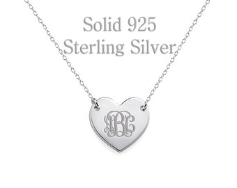Custom monogram Necklace, personalized necklace, initial necklace, monogram necklace gold, monogram necklace silver, custom name necklace