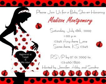 20 Ladybug Baby Shower Invitations NBSI15