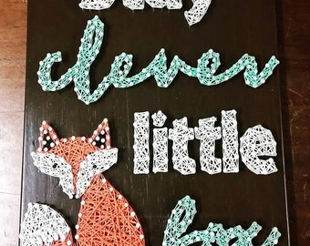 Woodland Fox String Art Baby Room Wall Art