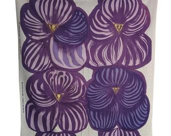 1968 Marimekko fabric designed by Anneli Qveflander titled Orvokki