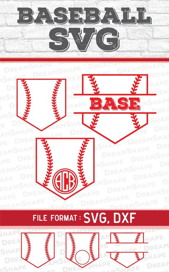 Baseball Pocket Svg Cut Files Vinyl Cutters Monogram Cricut