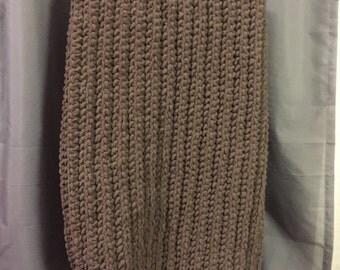 Taupe Crochet Blanket