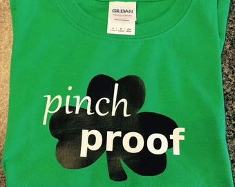 St Patricks Day short sleeve child T shirt pinch proof