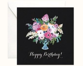 Vibrant Florals Birthday card