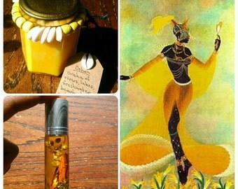 Oshun - Orisha Candle and Oil - Mandarin Cinnamon Chamomile