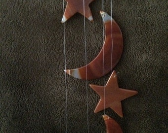 Agate Stars and Moons Wind Chimes