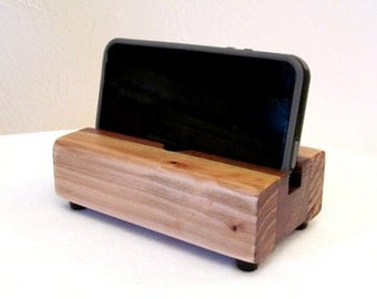 Rustic docking stand, charging station, iphone dock, ipod dock, wood phone stand, iphone 6 charger stand, wooden iphone dock, rustic decor.