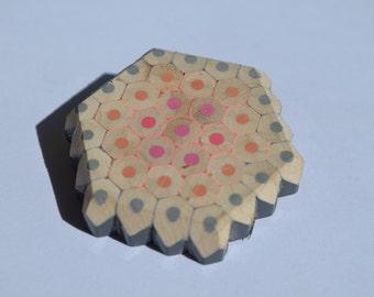 Hexagonal Pencil Brooch
