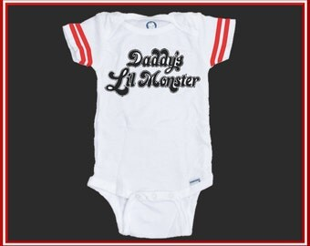Suicide Squad Daddy's Lil Monster Funny Baby Onesie, Baby Humor, Funny Toddler Shirt, Unisex Gift, Baby Shower, Newborn Photos