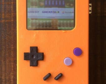Portable PiBoy Raspberry Pi Gameboy with 2 Buttons