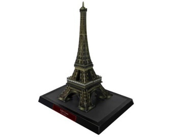 Paper toy Eiffel Tower for self-assembly, 2. Printable A4 PDF. Instant Download.
