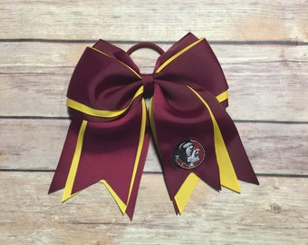 FSU Florida State Univerity Embroidered Cheer Bow