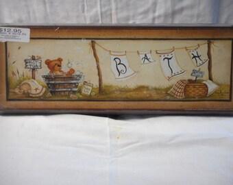 Bear Bath Sign
