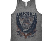 Funny Fourth of July Tank Top - America Fuck Yeah Tank Top