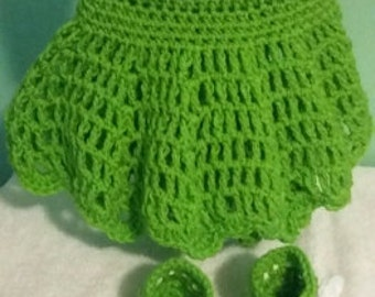 Hand  made  crochet  dresses  0 to 3 months