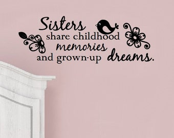 Sisters - Children's Vinyl Wall Decal, Sticker - Expression Avenue