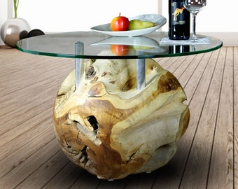 Picassi Coffeetable Massivo teak ball 70 cm