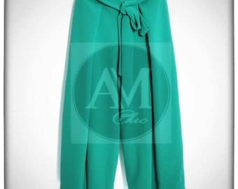 green culottes for a chic appearance