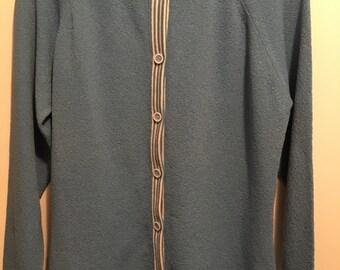Vintage talbott polyester button up sweater