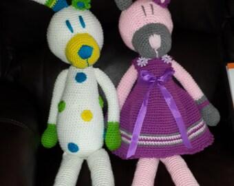 LolloLove crochet Rabbits amigurumi toys kids