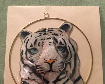 White Tiger Suncatcher Decoration