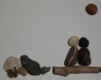 Pebble Art, Love Gazing Series, Sunshine
