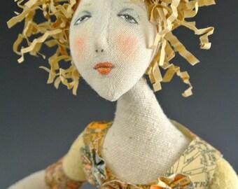 CR943E - Finding Her True North PDF Cloth Art Doll Making Tutorial/Class
