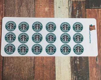 starbucks logo stickers