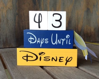Cheer and Dance Championship Competition Disney Countdown Blocks Reverse Days Until Weeks until Disney cheerleading countdown custom colors