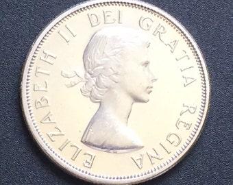 1964 Canada Silver Half Dollar 50 Cent Coin