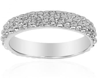 Aya's Signature Beaded Band in Sterling Silver