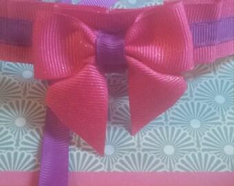 Pink and Purple Kitten Play collar