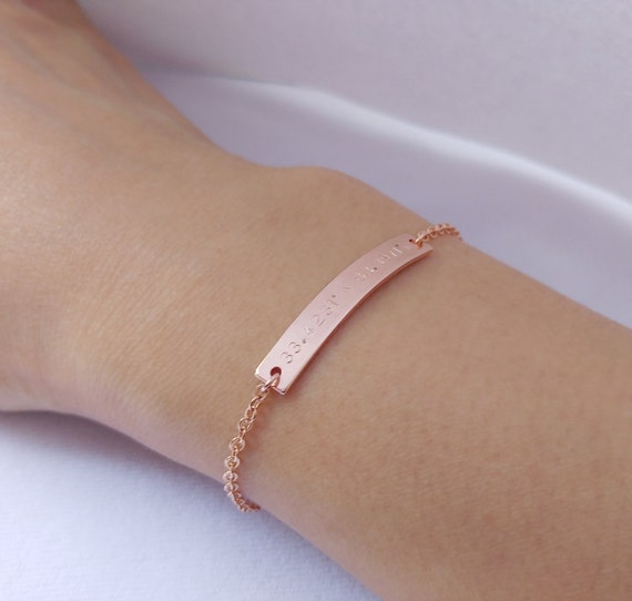 custom sted gold coordinates bracelet location