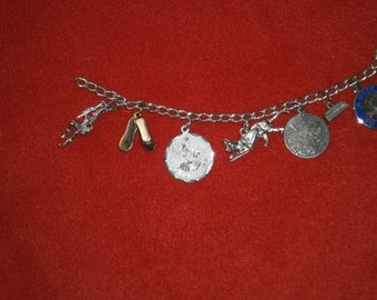 Silver charm bracelet (Use or Repurpose)