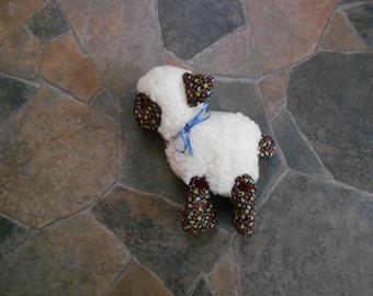 Soft Sculpture Wool/Fabric Lamb, Stuffed Cloth  Animal Toy Lamb, Stuffed Toys