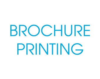 Brochure Printing Services - Let us print them for you!