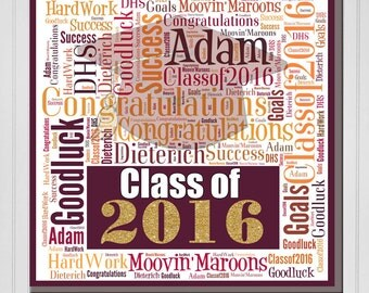 Personalized Graduation Print (Canvas or Metal)