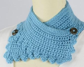 Crochet Teal Neck Warmer