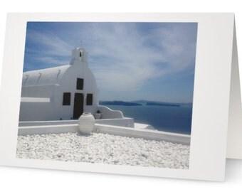 BLANK CARD:  'Surreal Santorini' from Greek Blues Series. Photo by Francesca Muir