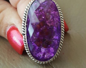 Snakeskin Quartz Ring-size 8.5!
