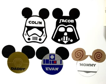 Disney Cruise Door Magnet Star Wars Darth Vader Stormtrooper R2D2 C3PO Princess Leia Personalized with Name