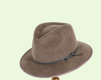 Wide Brim Fedora Hat/Men Wild Brim Fedora/Fur Felt Hat