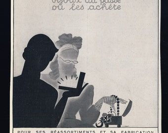 Original Vintage 1937 French Advert by LUSSON for DUSAUSOY Jewellers (4 3/4'x6 1/4' - 12x16 cm)